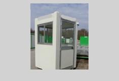 Poste de garde équipé vitre 3 côté 2.6x2.3x2.2