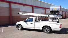 pick-up avec échelle téléscopique