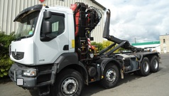 CAMION POLY BENNE GRUE 8X4